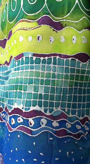 Handpainted silk details
